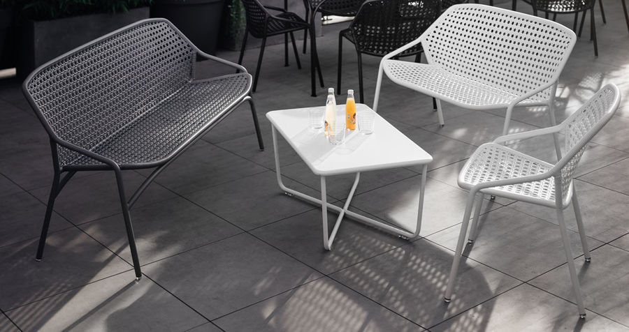 polyrottinkinen fermob croisette moderni sohva valkoinen polyrottinkinen ulkosohva v rik s. Black Bedroom Furniture Sets. Home Design Ideas